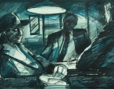 Film Noir Admixture Series, Pen & Marker on Cardbord, 35 X 50 cm, 2011