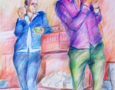 The Parties Series, Colored Pencil on Cardbord, 35x50cm, 2008