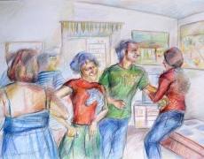 The Parties Series, Colored Pencil on Cardbord, 40x60cm, 2008