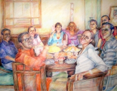 The Parties Series, Colored Pencil on Cardbord, 70x100cm, 2006
