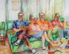 The Parties Series, Colored Pencil on Cardbord, 50x70cm, 2004