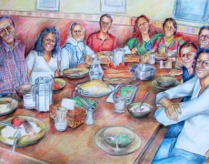 The Parties Series, Colored Pencil on Cardbord, 70x100cm, 2007