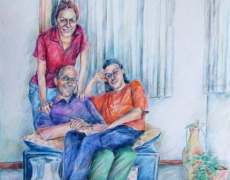 The Parties Series, Colored Pencil on Cardbord, 50x70cm, 2005